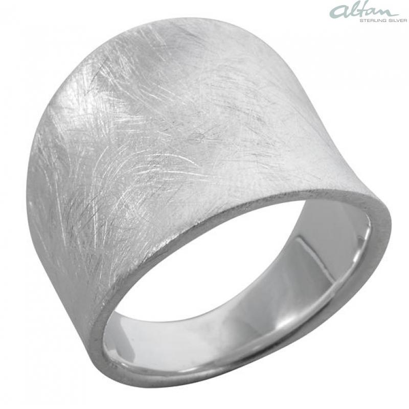 Silber ring  Gladiolus - Silberring plain - gebürstet- altansilver.de - der ...