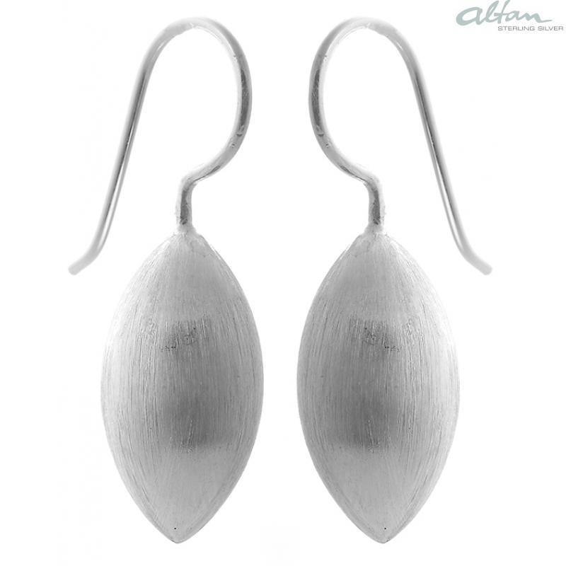 Silber ohrringe  Ohrhänger Zapfen - Silber Ohrringe plain - mattiert- altansilver.de
