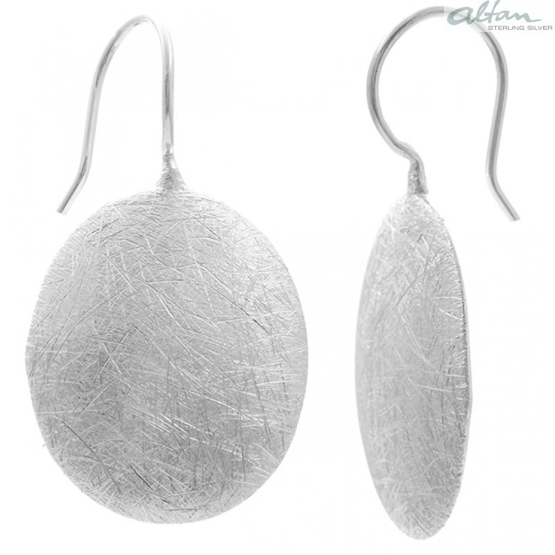 Ohrhänger silber  Ohrhänger - Silber Ohrringe plain - gebürstet/poliert- altansilver.de