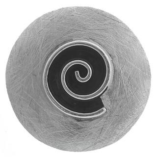 Spirale - Silber Anhänger plain - gebürstet