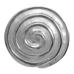 Spirale - Silber Anhänger plain - mattiert/poliert