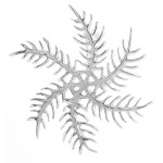 Schneeflocke - Silber Anhänger plain - poliert