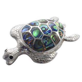 Schildkröte - Silber Anhänger Perlmutt - poliert