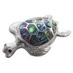 Schildkröte - Silber Anhänger Perlmutt -...