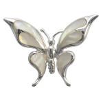 Schmetterling - Silber Anhänger Perlmutt - poliert