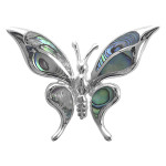 Schmetterling - Silber Anhänger Perlmutt - poliert -...