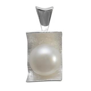 Perlenliege - Silber Perlenanhänger - gebürstet/poliert