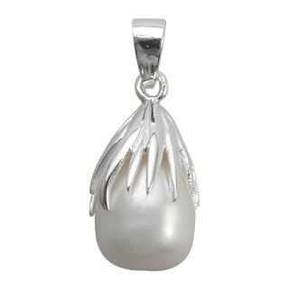 Perlen - Silber Perlenanhänger - poliert