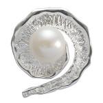 Muschelperle - Silber Perlenanhänger - mattiert/poliert