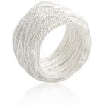 Bandring gewickelt - Silberring plain - poliert