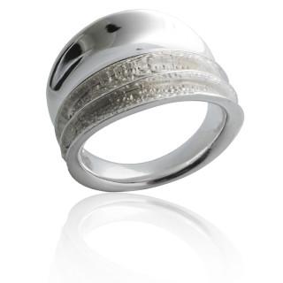 Bandring Vulkan - Silberring plain - poliert