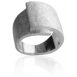 Bandring - Silberring plain - gebürstet
