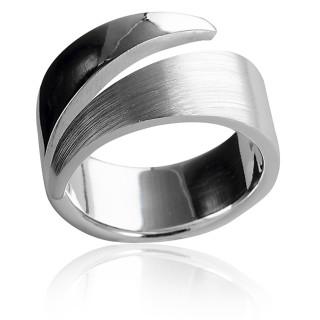 Bandring - Silberring plain - mattiert/poliert