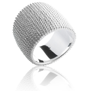 Ring Morgenapell - Silberring plain - mattiert