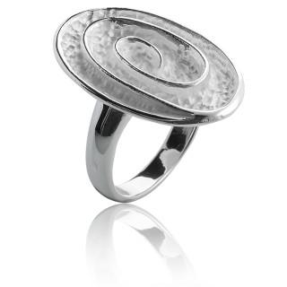 Ring Spirale - Silberring plain - mattiert/poliert