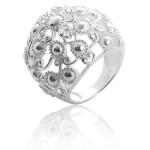 Ring Herzenhimmel - Silberring plain - poliert