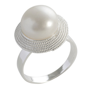Perlenring - Silber Perlenring - poliert