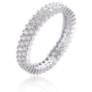 Ring Sternenhimmel schmal - Silber Ring Zirkonia - rhodiniert