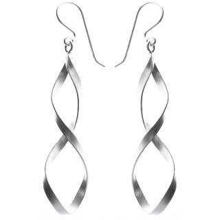 Iriga - Silber Ohrringe plain - mattiert