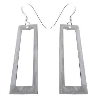 Mondrian - Silber Ohrringe plain - poliert