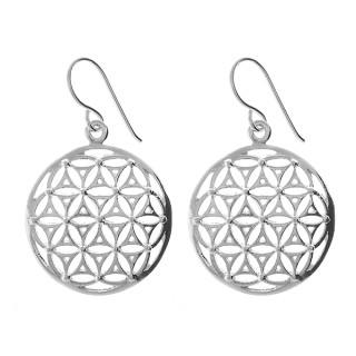 Geomandala - Silber Ohrringe plain - poliert