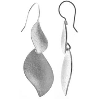Pasig - Silber Ohrringe plain - gebürstet