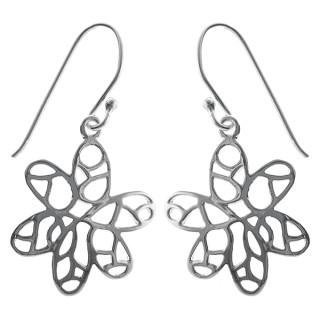 Sommerblume - Silber Ohrringe plain - poliert