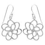 Lotus - Silber Ohrringe plain - poliert