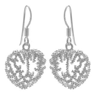 Korallenherz - Silber Ohrringe plain - poliert