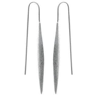 Cornflower - Silber Ohrringe plain - gebürstet