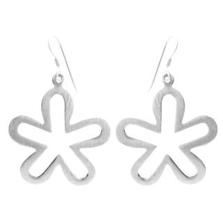 Daisy - Silber Ohrringe plain - mattiert/poliert
