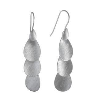 King - Silber Ohrringe plain - gebürstet