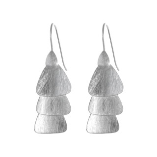 Cebu - Silber Ohrringe plain - gebürstet