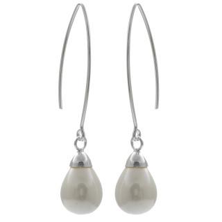 Perlenhänger - Silber Perlenohrringe - poliert