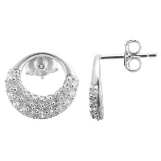 Scilla - Silber Ohrringe Zirkonia - poliert