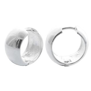 Klappcreole poliert - Silber Creolen - poliert