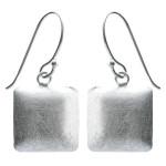 Ohrhänger Viereck - Silber Ohrringe plain -...