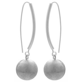 Kugelhänger - Silber Ohrringe plain - gebürstet
