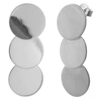 Ohrring Vintage - Silber Ohrringe plain - poliert