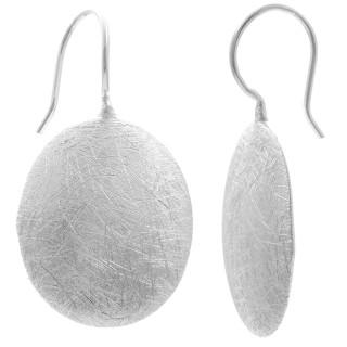 Ohrhänger - Silber Ohrringe plain - gebürstet/poliert