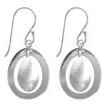 Ohrhänger Duo - Silber Ohrringe plain -...