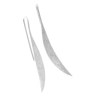 Ohrring Helena - Silber Ohrringe plain - gebürstet/poliert