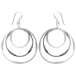 Ohrring Rund - Silber Ohrringe plain - mattiert/poliert