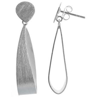 Ohrring Demeter - Silber Ohrringe plain - mattiert