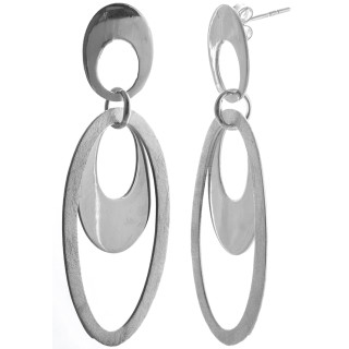 Benin - Silber Ohrringe plain - mattiert/poliert