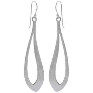 Iligan - Silber Ohrringe plain - gebürstet/poliert