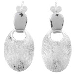 Ohrring Sphinx oval - Silber Ohrringe plain -...