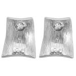 Ohrring Welle - Silber Ohrringe plain - gebürstet
