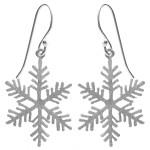 Schneeflöckchen - Silber Ohrringe plain -...
