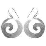 Ohrring Spirale - Silber Ohrringe plain - gebürstet